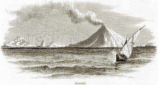 Stromboli. Illustration from Picturesque Europe (Cassell, c 1880).