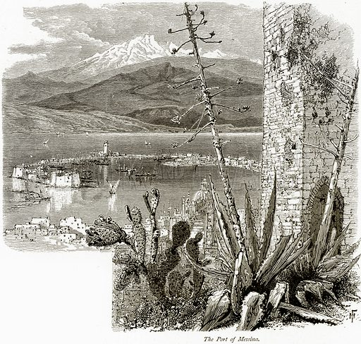 The Port of Messina. Illustration from Picturesque Europe (Cassell, c 1880).