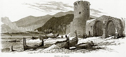 Mondello, near Palermo. Illustration from Picturesque Europe (Cassell, c 1880).
