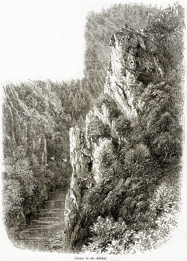 Corner in the Albthal. Illustration from Picturesque Europe (Cassell, c 1880).