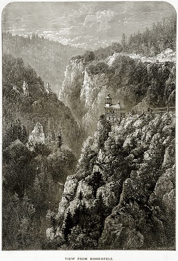 View from Hohenfels. Illustration from Picturesque Europe (Cassell, c 1880).