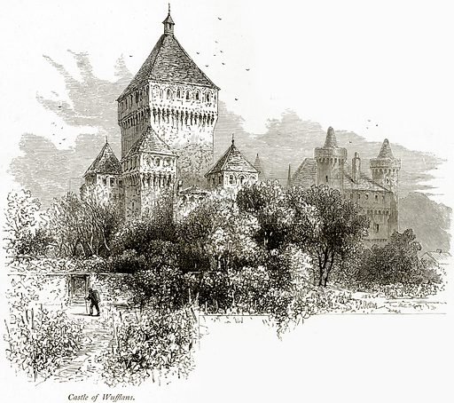 Castle of Wufflans. Illustration from Picturesque Europe (Cassell, c 1880).