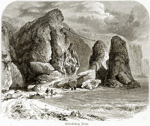 Greve-de-Lecq, Fersey. Illustration from Picturesque Europe (Cassell, c 1880).