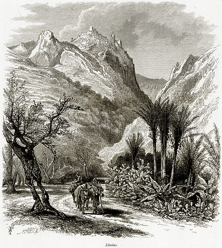 Limino. Illustration from Picturesque Europe (Cassell, c 1880).