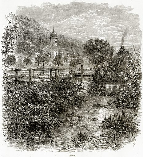 Ebnet. Illustration from Picturesque Europe (Cassell, c 1880).