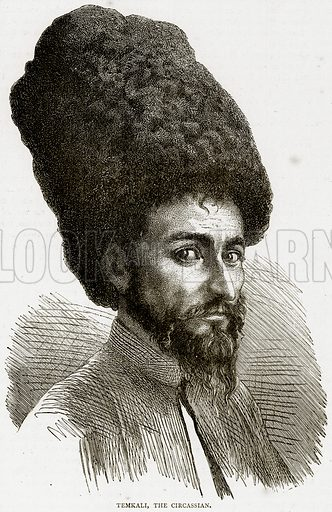 Temkali, the Circassian. Illustration from Illustrated Travels edited by HW Bates (Cassell, c 1880).