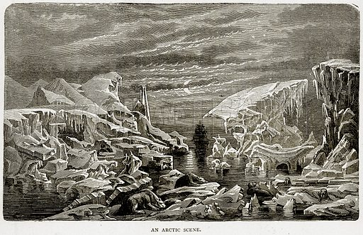 An Arctic Scene. Illustration from Illustrated Travels edited by HW Bates (Cassell, c 1880).