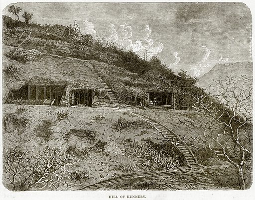 Hill of Kennery. Illustration from Illustrated Travels edited by HW Bates (Cassell, c 1880).