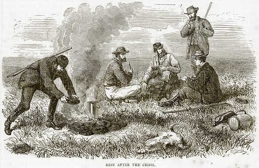 Rest after the Chase. Illustration from Illustrated Travels edited by HW Bates (Cassell, c 1880).