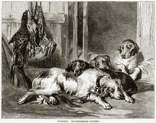 Evening. By Frederick Tayler. Illustration from The National Magazine (Kent, 1860).