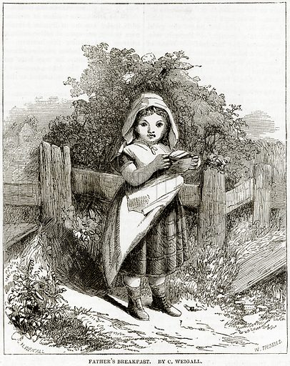 Father's Breakfast. By C. Weigall. Illustration from The National Magazine (Kent, 1860).