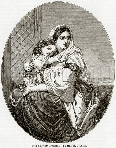 The Eastern Mother. By Miss M Gillies. Illustration from The National Magazine (Kent, 1860).