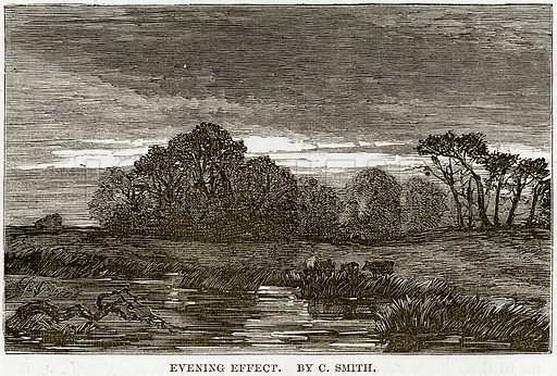 Evening Effect. By C. Smith. Illustration from The National Magazine (Kent, 1860).