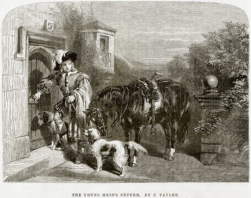The Young Heir's Return. By F Tayler. Illustration from The National Magazine (Kent, 1860).