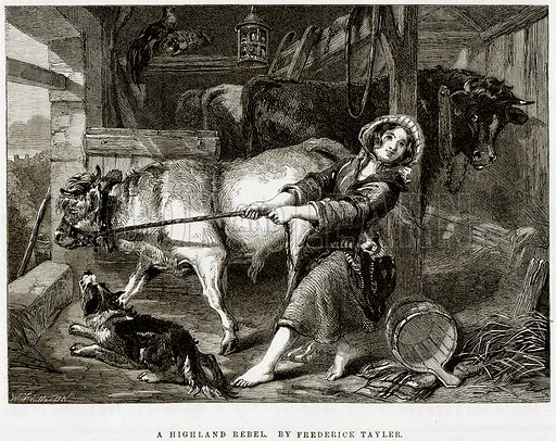 A Highland Rebel. By Frederick Tayler. Illustration from The National Magazine (Kent, 1860).
