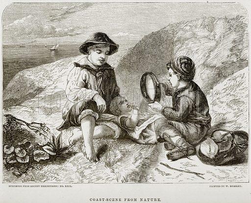 Coast-Scene from Nature. Illustration from The National Magazine (Kent, 1860).
