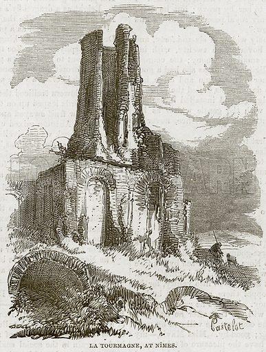 La Tourmagne, at Nimes. Illustration from The National Magazine (Kent, 1860).