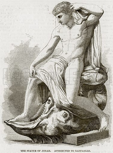 The Statue of Jonah. Attributed to Raffaelle. Illustration from The National Magazine (Kent, 1860).