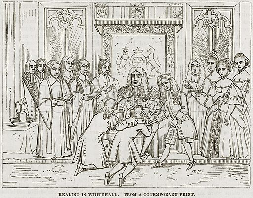 Healing in Whitehall. Illustration from The National Magazine (Kent, 1860).