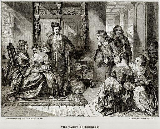The Trady Bridegroom. Illustration from The National Magazine (Kent, 1860).