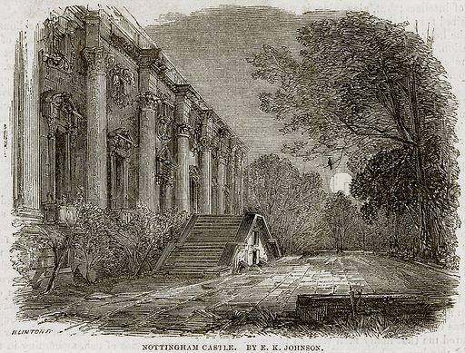 Nottingham Castle. By EK Johnson. Illustration from The National Magazine (Kent, 1860).