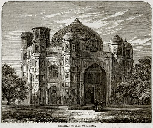 Christian Church at Lahore. Illustration from The National Magazine (Kent, 1860).