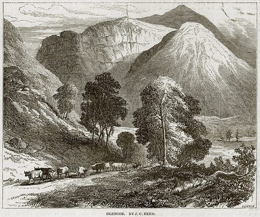 Glencoe. By JC Reed. Illustration from The National Magazine (Kent, 1860).