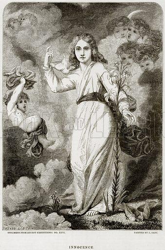 Innocence. Illustration from The National Magazine (Kent, 1860).