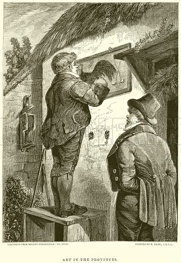 Art in the Provinces. Illustration from The National Magazine (Kent, 1860).