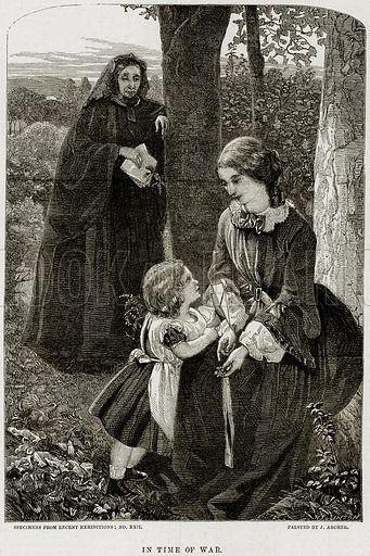 In Time of War. Illustration from The National Magazine (Kent, 1860).
