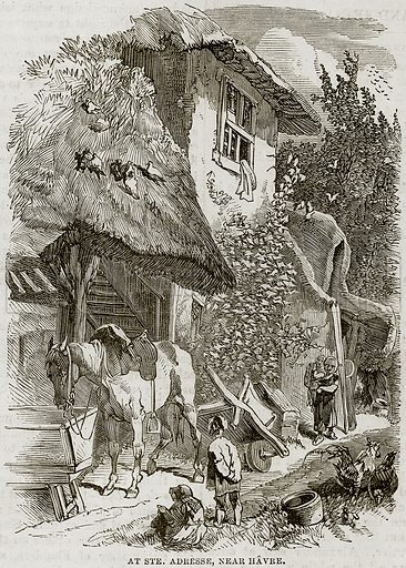 At Ste. Adresse, near Havre. Illustration from The National Magazine (Kent, 1860).