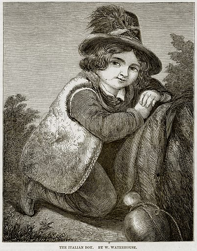The Italian Boy. By W Waterhouse. Illustration from The National Magazine (Kent, 1860).
