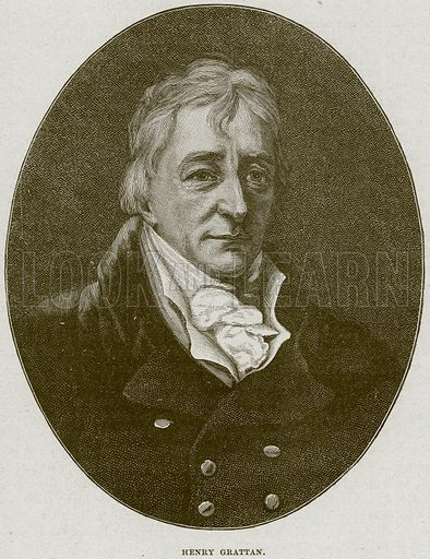 Henry Grattan. Illustration from Cassell's History of England (special edition, AW Cowan, c 1890).