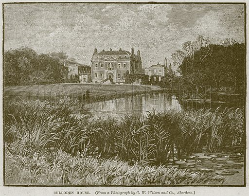 Culloden House. Illustration from Cassell's History of England (special edition, AW Cowan, c 1890).