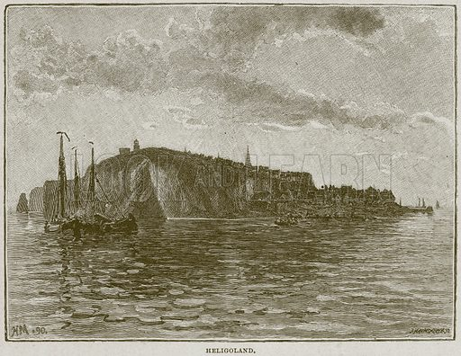 Heligoland. Illustration from Cassell's History of England (special edition, AW Cowan, c 1890).