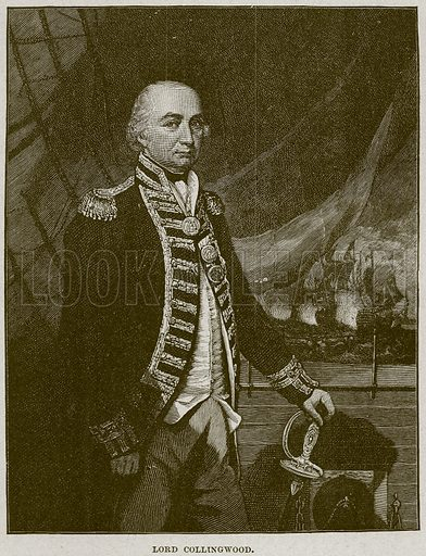 Lord Collingwood. Illustration from Cassell's History of England (special edition, AW Cowan, c 1890).