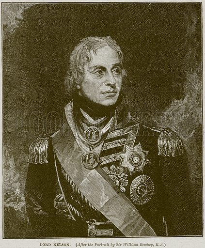 Lord Nelson. Illustration from Cassell's History of England (special edition, AW Cowan, c 1890).