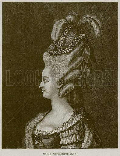 Marie Antoinette (1783). Illustration from Cassell's History of England (special edition, AW Cowan, c 1890).