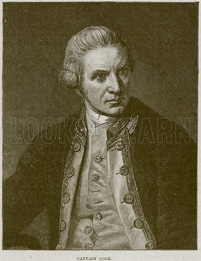 Captain Cook. Illustration from Cassell's History of England (special edition, AW Cowan, c 1890).