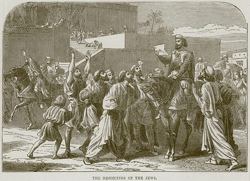Ther rejoicings of the Jews. Illustration from The Child's Bible (Cassell, c 1880).