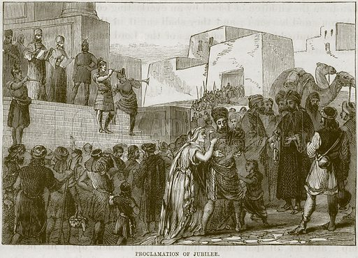 Proclamation of Jubilee. Illustration from The Child's Bible (Cassell, c 1880).