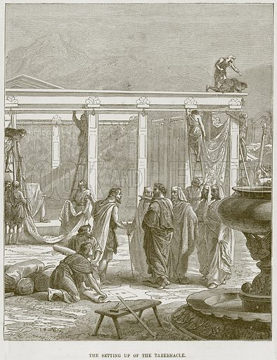 The setting up of the Tabernacle. Illustration from The Child's Bible (Cassell, c 1880).