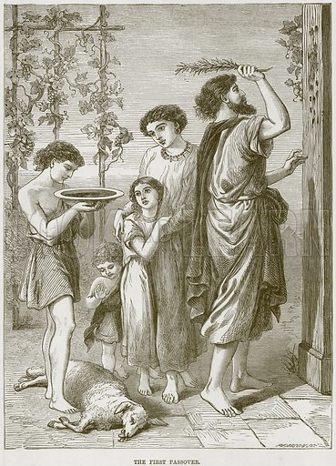 The First Passover. Illustration from The Child's Bible (Cassell, c 1880).