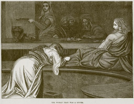The Woman that was a Sinner. Illustration from The Child's Bible (Cassell, c 1880).
