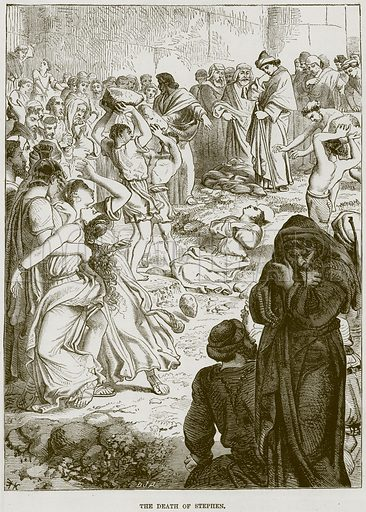 The Death of Stephen. Illustration from The Child's Bible (Cassell, c 1880).