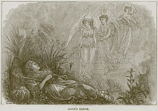 Jacob's Dream. Illustration from The Child's Bible (Cassell, c 1880).