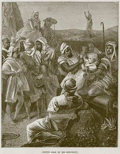 Joseph sold by his Brethren. Illustration from The Child's Bible (Cassell, c 1880).