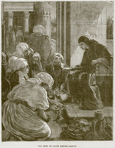 The Sons of Jacob before Joseph. Illustration from The Child's Bible (Cassell, c 1880).