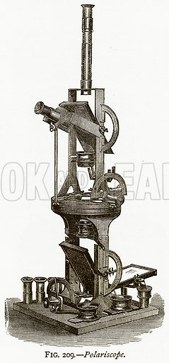 Polariscope. Illustration from Discoveries and Inventions by Robert Routledge (9th edn, George Routledge, 1891).