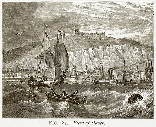 View of Dover. Illustration from Discoveries and Inventions by Robert Routledge (9th edn, George Routledge, 1891).